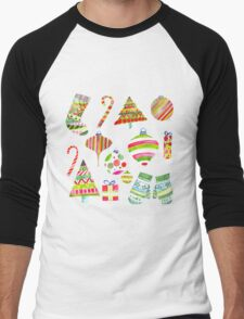 A Colorful Christmas Men's Baseball ¾ T-Shirt