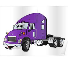 Semi Truck Cab Purple Poster