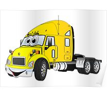 Semi Truck Cab Yellow Poster