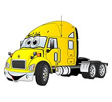 Semi Truck Cab Yellow Photographic Print