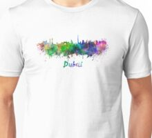 Dubai skyline in watercolor Unisex T-Shirt