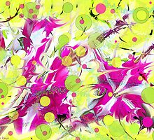 Pink Flower Explosion by MSRowe Art and Design