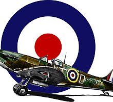 British Spitfire Fighter Plane by olivercook