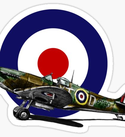 British Spitfire Fighter Plane Sticker