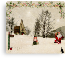 Going Home for Christmas... Canvas Print