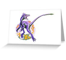 Juravenator (without text)  Greeting Card