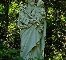 St. Joseph With Child Jesus by Christina Bailey