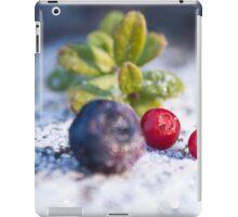 Frozen Red lingonberries, vaccinium vitis-idaea iPad Case/Skin