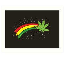 Rainbow Smiling Cannabis - #Cannabis Art Print