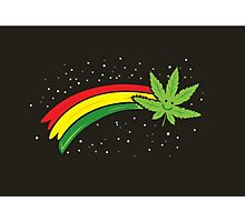 Rainbow Smiling Cannabis - #Cannabis Photographic Print