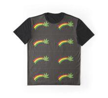 Rainbow Smiling Cannabis - #Cannabis Graphic T-Shirt