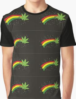 Rainbow Smiling Cannabis - #Cannabis Graphic T-Shirt