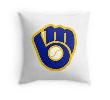 milwaukee brewers logo Throw Pillow