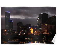 Melbourne Night Sky - Victoria, Australia Poster