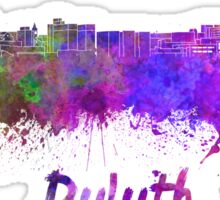 Duluth skyline in watercolor Sticker