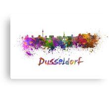 Dusseldorf skyline in watercolor Canvas Print
