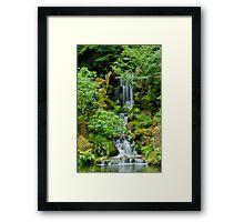Peaceful Cascades Framed Print
