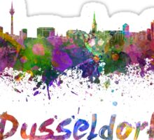 Dusseldorf skyline in watercolor Sticker