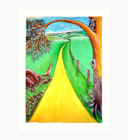 The road to the future Art Print