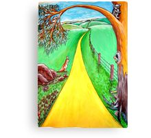 The road to the future Canvas Print