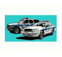 American Police Cars Art Print