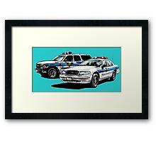 American Police Cars Framed Print