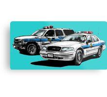 American Police Cars Metal Print