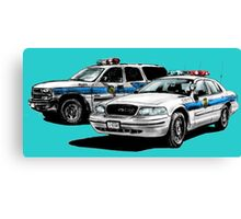 American Police Cars Canvas Print