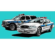 American Police Cars Photographic Print
