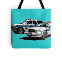 American Police Cars Tote Bag