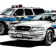 American Police Cars by olivercook