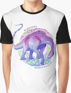 Bigender Bonitasaura (with text) Graphic T-Shirt