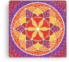 Sacred Geometry Star Flower Canvas Print