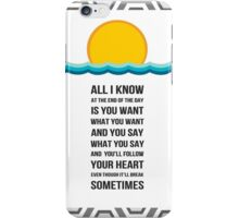 end of the day one direction lyric poster iPhone Case/Skin
