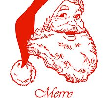 Santa Merry Christmas  by Cheryl Hall
