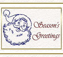 Season's Greetings Santa card Ol' saint Nic by Cheryl Hall