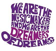 Willy Wonka Hat Dreams - Purple by joefixit2