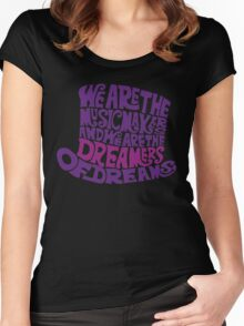 Willy Wonka Hat Dreams - Purple Women's Fitted Scoop T-Shirt