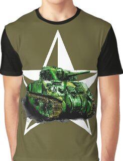 WW2 Sherman Army Tank Graphic T-Shirt
