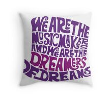 Willy Wonka Hat Dreams - Purple Throw Pillow