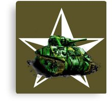 WW2 Sherman Army Tank Canvas Print