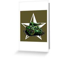 WW2 Sherman Army Tank Greeting Card