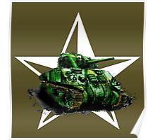 WW2 Sherman Army Tank Poster