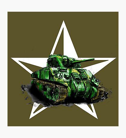WW2 Sherman Army Tank Photographic Print