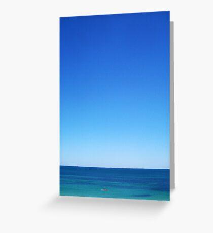 Lone Wave Paddler - 02 12 12 Greeting Card