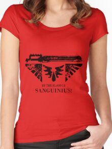 By the Blood of Sanguinius! Women's Fitted Scoop T-Shirt
