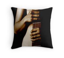The Guitar Stand  Throw Pillow