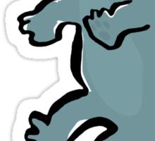 diplodocus on a chair Sticker