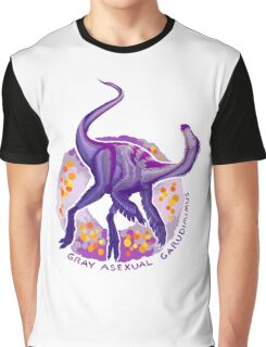 Gray Asexual Garudimimus (with text)  Graphic T-Shirt