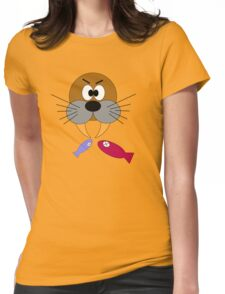 Hungry Walrus  Womens Fitted T-Shirt